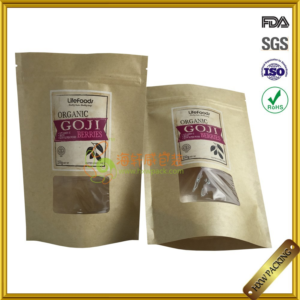 food packaging paper bags with window