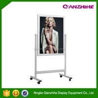 High quality hotel poster display Elegant design free standing sign board stand
