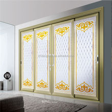 China Newest auto tempered glass sliding glass door