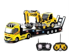 1:32 6 Channels RC Heavy Trailer with 1:20 6 Channels RC Construction Digger Truck RC Trucks And Trailers