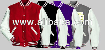 different colors varsity jackets