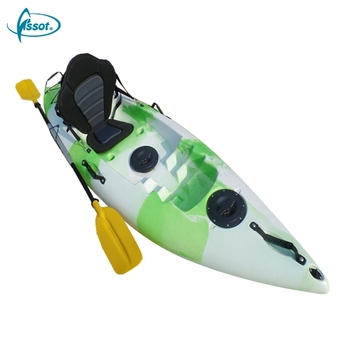 Long life no inflatable 2.6 meters cheap plastic kayak with paddle