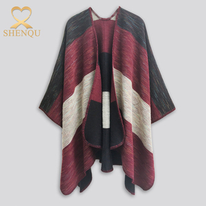 2017 factory wholesale autumn winter warm women jacquard cashmere knitted scarf colorful pashmina ponchos