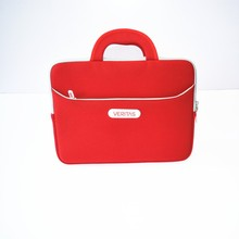 2017 new fashion factory supply red laptop bag with handle