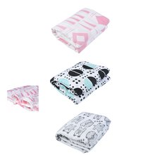 Custom printing 47*47inch cotton muslin baby swaddle blanket