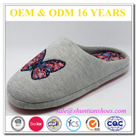 Cute Design Wholesale butterfly design jersey Lady Slipper Shoes