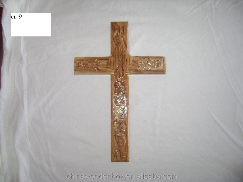 Shandong laser cut New Design Wood Cross Hanging Decor,home decoration