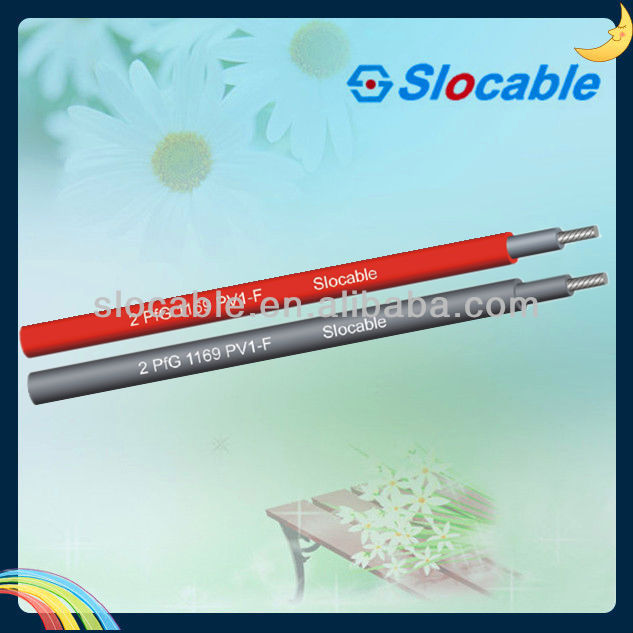 waterproof Pure cupper class5 tinned 4mm2 solar pv connector cable with excellent quality