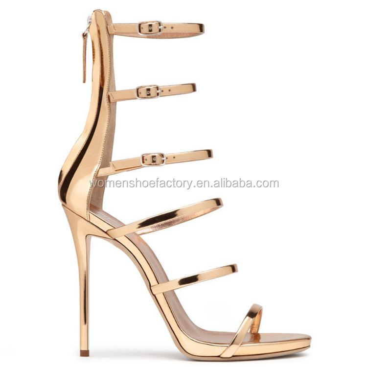 shoes factory wholesale women thin high heel ankle sexy roman ladies sandals