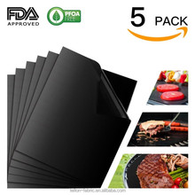As seen on TV Hot Sale 2016 Reusable new style food grade fire retardant bbq grill mat