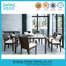 Patio Highly Recommended Garden Rattan 9 Pcs Dining Table Setting