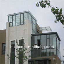 Energy Saving Aluminum Balcony sun room with low-E glass,Rooftop glass house