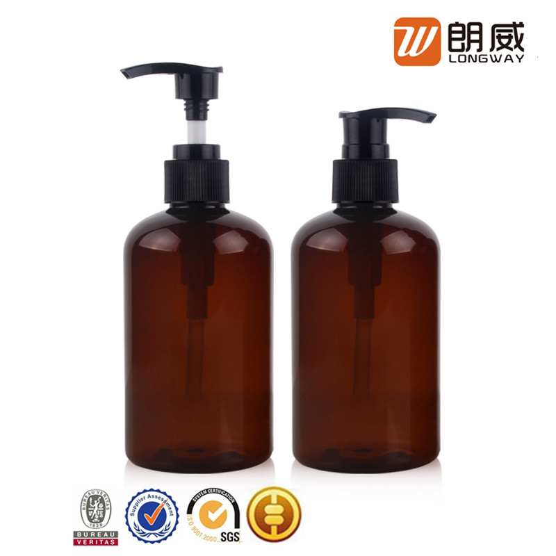 wholesale skin care brown water pet lotion square plastic bottle for cosmetic