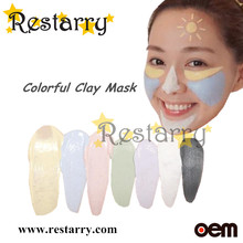 Restarry Natural mineral colorful mud mask cleaning dirty in pore