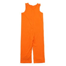 Wholesale 2016 halloween solid orange color longer pants romper baby cotton infant rompers