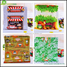 Wholesale tea towel fabric custom made promotional tea towel 100% polyester tea towel