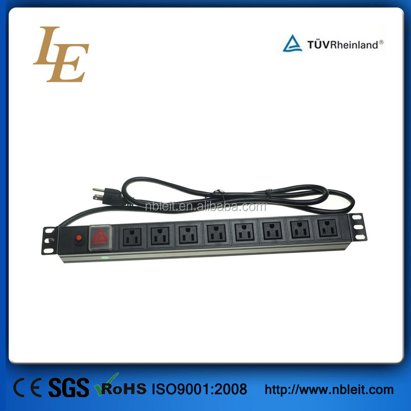 19'' American Type switched pdu sockets power distribution unit