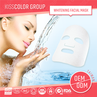 ODM silk fabric whitening mask face