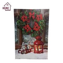 High quality Christmas family holiday living room wall art led painting canvas