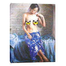 Handpainted beautiful canvas nude women painting girl sexy image for bedroom on sale