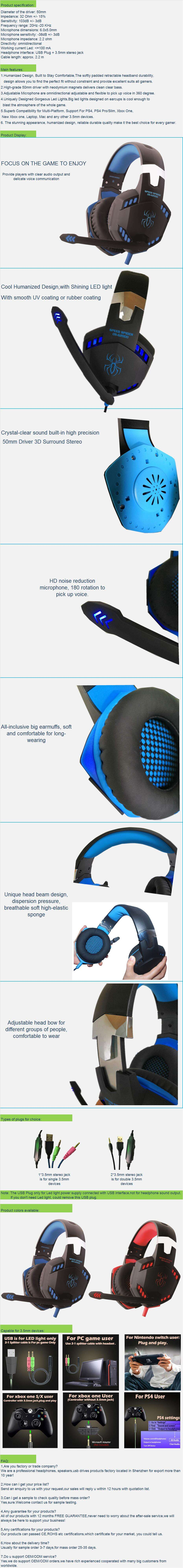 2019 Best Seller Hot Popular High-end Pro Gaming Headphones PS4 Stereo Headset with Microphone for Playstation 4 (G2000)