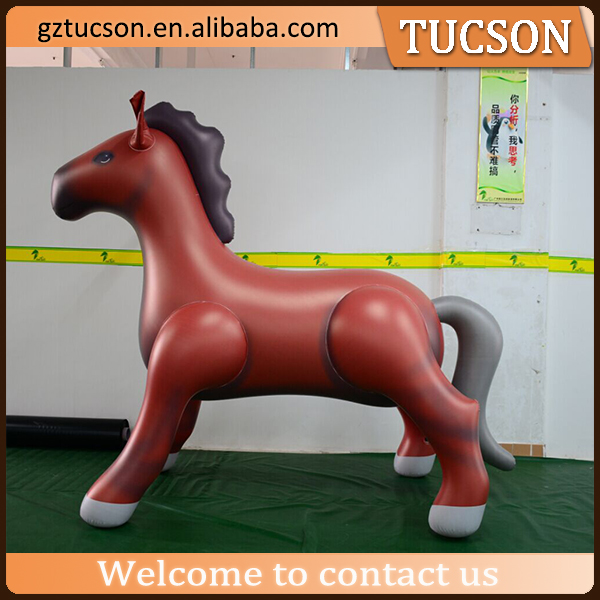 PVC customized 2m size inflatable brown horse model for sale