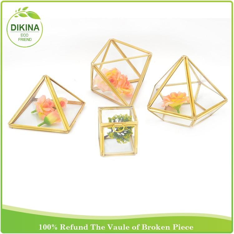 Vase Decorate Glass Globe Air Plant Geometric Glass Terrarium