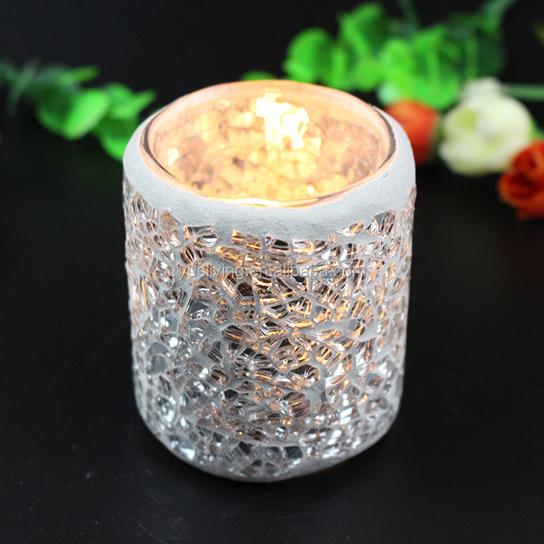 candle jar mosaic candle holders glass jar for home garden
