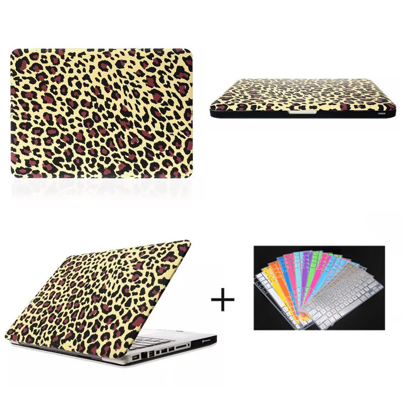 hot selling gold leopard pattern PC hard cover for macbook pro 13.3' and 15.4' , for macbook pro case