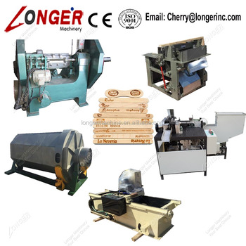 Wooden Tongue Depressor Production Line Wooden Spatula Making Machine