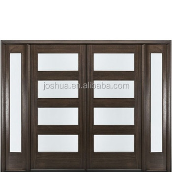 Double french entry doors with sidelites buy kitchen - Soundproof french doors exterior ...