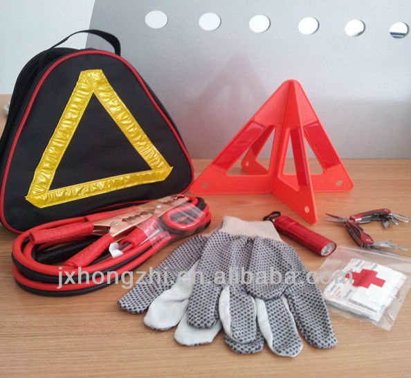 Auto Emergency Road Kit in Canvas Bag
