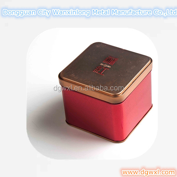 Square tin can, tea tin box, coffee tin,