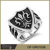 Hot sale 361l stainless steel rings 925 silver jewelry men's ring