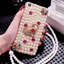 GZ Huashi Factory Cellphone Pearl Diamond Hard Case for Mobile Phones