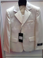 Baby boys 3 piece suit men white coat blazer jacket