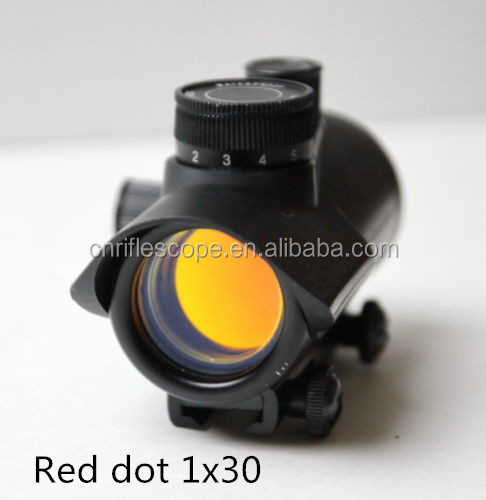 Opticsope 1x30 Red Dot Sight 5 MOA Matte Black riflescopes red dot