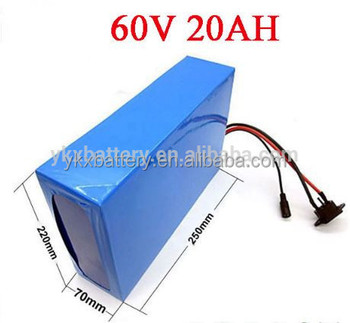 scooter battery pack 60V20ah rechargeable li-ion battery pack with high safety performance