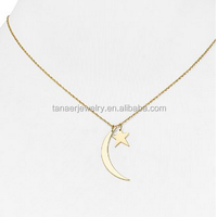 Newest Stainless Steel Gold Plated Moon