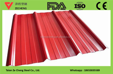 cheap color coated black corrugated metal roofing sheet