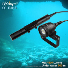 high power 4500 Lumens Brinyte DIV10W 6 LED Diving video flashlight