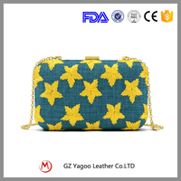 Factory price Fashion Design Canvas evening clutch bags for ladies