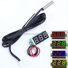 Mini LED Display Digital Thermometer Probe 0.1 Celsius Precision Sensor Module NTC Metal Waterproof Temperature Sensor