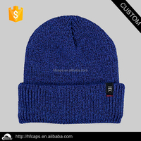 Custom woven label knitted hat / winter warm skiing knitted hat