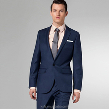 Wool blended fabric Men slim fit type business suits blazer