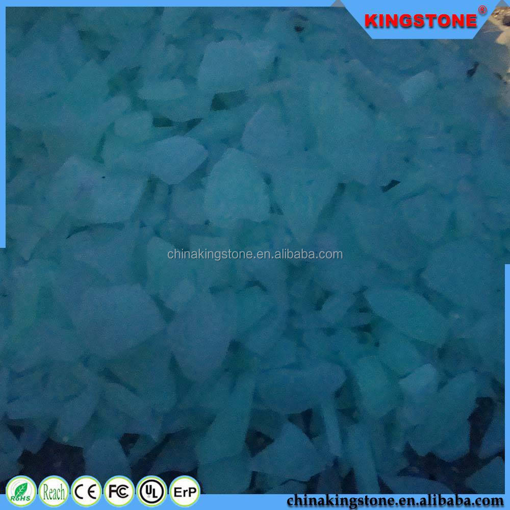 New product 1-12mm glowing glass chips,1-12mm glowing coloured building glass sheets