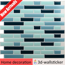 New arrival adhesive style selections tile wall finishes for bathroom
