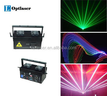 Animation Laser light 3Watts RGB Stage lighting for advertise projection.