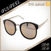 2017 Style custom logo mirror lens sunglasses