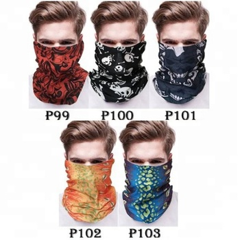 KaPin colorful 3d printing tube scarf multifunction outdoor headwear bandit bandana